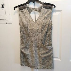 Mesh & Abstract Design w/ Cut Out Back Dress | UO